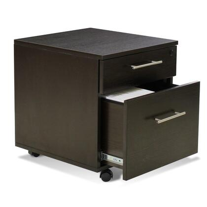 "Unique Furniture 118202ESP 19"" Wood Modern File Cabinet"