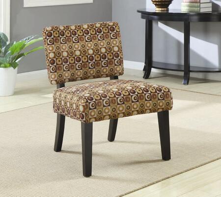 Coaster 902049 Armless Fabric Wood Frame Accent Chair