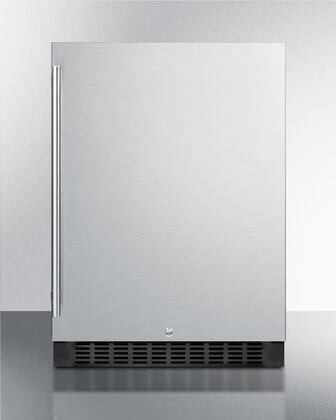 """Summit FF64BSS 24""""  Compact Refrigerator with 4.6 cu. ft. Capacity in Stainless Steel"""