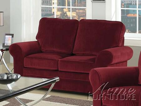 Acme Furniture 15176 Chantal Series Fabric Stationary with Wood Frame Loveseat