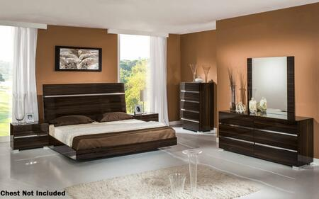 VIG Furniture VGACEXCALIBURSETQ Excalibur Series 5 Piece Bedroom Set