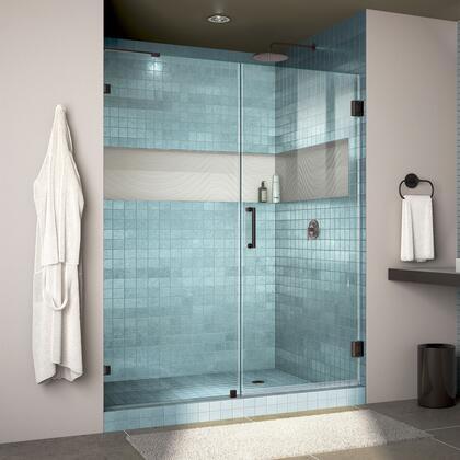 DreamLine Unidoor Lux Shower Door RS30 30D 30P 09 Blue Tile