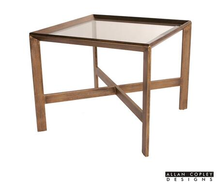 Allan Copley Designs 210102G Denise Series Contemporary Square End Table