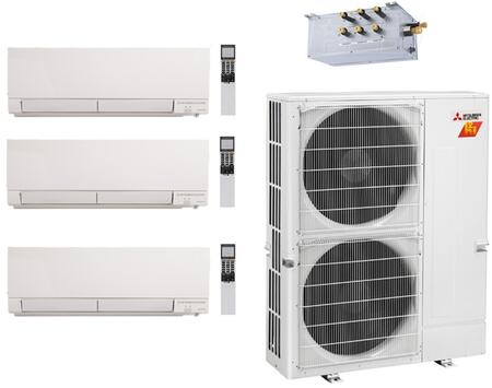 Mitsubishi 978013 M Series 36000 BTU Triple-Zone Mini Split System