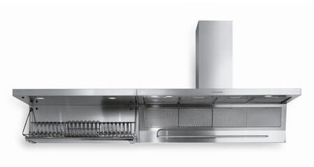 """Futuro Futuro WLMAGNUSSTN x"""" Magnus Series Range Hood with 940 CFM, 4-Speed Electronic Controls, Delayed Shut-Off, Filter Cleaning Reminder, and in Stainless Steel"""