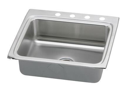 """Elkay LRQ2521 25"""" Top Mount Self-Rim Single Bowl 18-Gauge Stainless Steel Sink"""