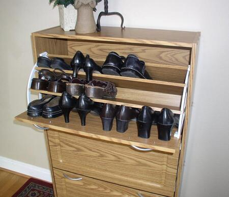4D Concepts 76153F Deluxe Triple Shoe Cabinet, Holds up to 36 Pairs of Shoes, 10 Pairs of Men Shoes,