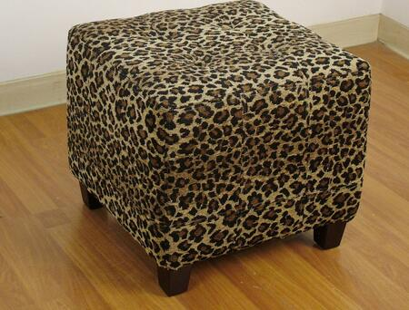 4D Concepts 554589 Contemporary Fabric Ottoman