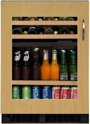 """Marvel ML24WBF1xP 24"""" Dual Zone Beverage Center and Wine Cooler with 5.1 cu. ft. for 112 Cans and 16 Wine Bottle Capacity, Dynamic Cooling Technology, Vibration Neutralization System and UV Resistant Glass Door, in Panel Ready Framed Glass Door with"""