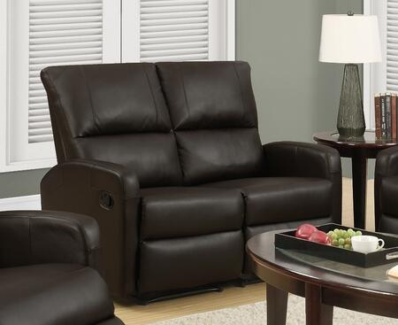 "Monarch I 84XXX 50"" Reclining Loveseat with Lumbar Support, Comfortably Padded and Bonded Leather"