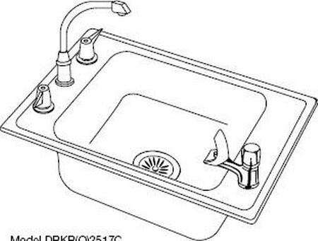 Elkay DRKAD2220550 Lustertone Series Classroom Sinks