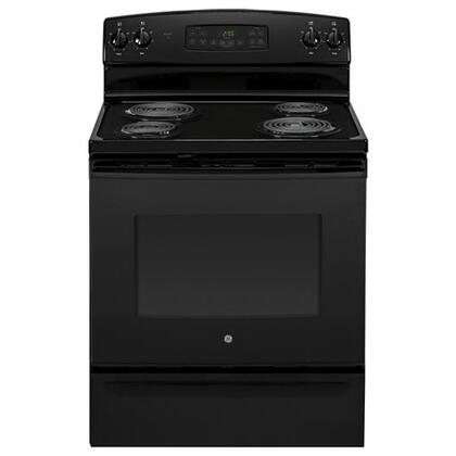 "GE JB255DJBB 30""  Electric Freestanding Range with Coil Element Cooktop, 5 cu. ft. Primary Oven Capacity, Storage in Black"