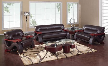 Global Furniture USA 2033R2VDKBRSLCH Denisa Living Room Sets
