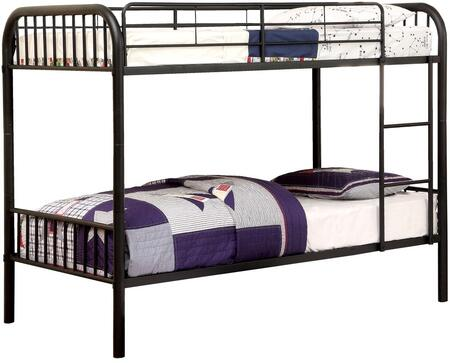 Furniture of America CMBK1035BK Rainbow Series  Twin Size Bunk Bed