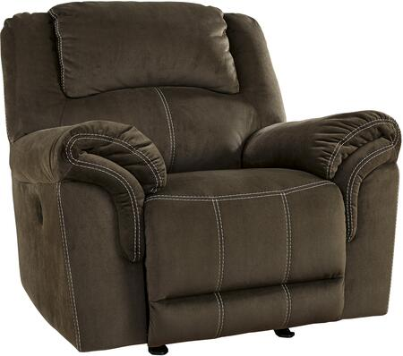 Signature Design by Ashley 9570198 Quinnlyn Series Contemporary Fabric Metal Frame Rocking Recliners