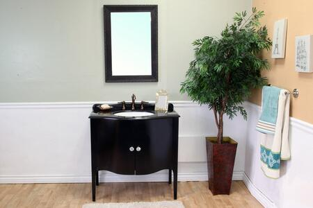 Bellaterra Home 203037 Vanity and Mirror Set