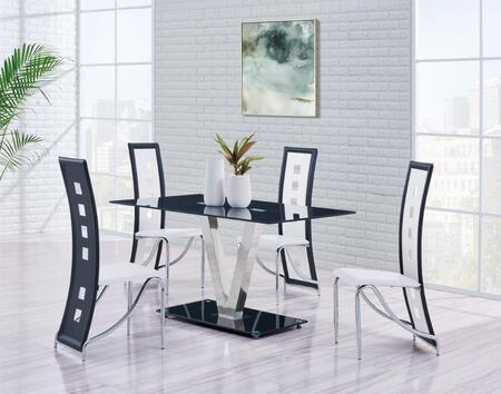 Global Furniture USA D551DT5PCSETWH Dining Room Tables