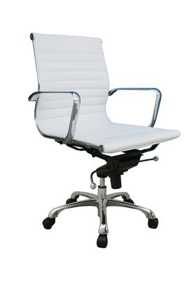 j m furniture 176522 comfy low back white office chair 2