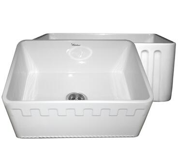 Whitehaus WHFLATN2418WH Kitchen Sink