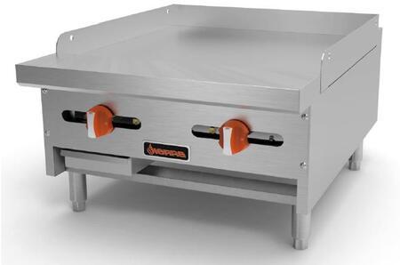 Sierra SRMGx Manual Griddles with Burners, BTU per Burner, Total BTU, in Stainless Steel