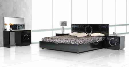 VIG Furniture VGUNAW223180BLKEKN A & X Ovidius E King Bedroo