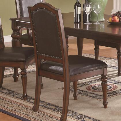 Coaster 103462 Anson Series Transitional Vinyl Wood Frame Dining Room Chair