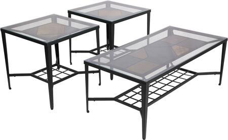 Calder 3 Piece Occasional Table Set
