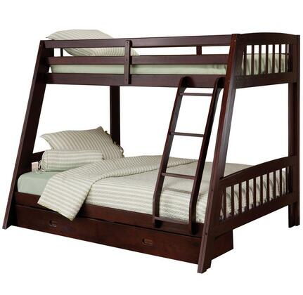 Hillsdale Furniture 1668BB Rockdale Series  Twin over Full Size Bunk Bed