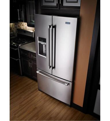 maytag mftdem   energy star   compliant french door refrigerator   cu ft
