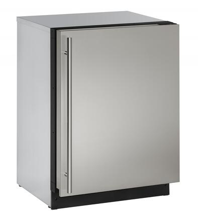U-Line U2224RxB 4.9 cu. ft. Built-in Compact Refrigerator with Adjustable Tempered Glass Shelves, Interior LED Lighting, Digital Touch Pad Control and Full Extension Crisper Drawer, in