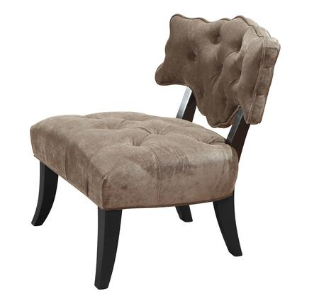 Armen Living LC364ARX Diva Arm Chair with Button-tufting Detail in