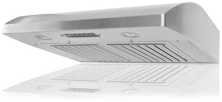 Kobe CHX22 Under Cabinet Range Hood With 680 CFM Internal Blower, 3 Speeds, Mechanical Push Button Control, LED lights, Dishwasher safe professional baffle filters and QuietMode in Stainless Steel