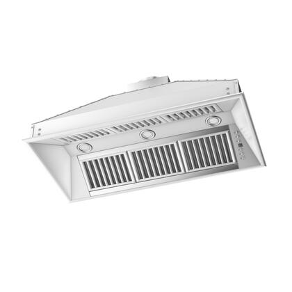 Z Line ZL721 Range Hood Insert with 1200 CFM High Performance Dual Motor, 4 Speed Levels, Directional Lights and Control Panel with LCD in Brushed Stainless Steel