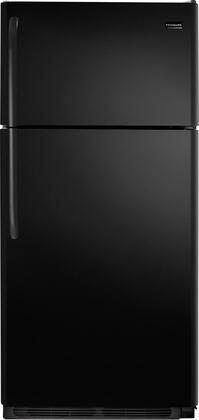 Frigidaire FFTR1817LB Freestanding Top Freezer Refrigerator with 18.2 cu. ft. Total Capacity 2 Glass Shelves 4.07 cu. ft. Freezer Capacity
