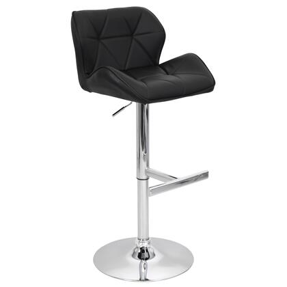 """LumiSource Jubilee BS-TW-JUBL 39"""" - 46"""" Barstool with 360-Degree Swivel, Bucket Seat and Stitched Detailing in"""