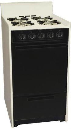 """Summit SNM110CHJ 20"""" 110 Series Bisque Gas Freestanding Range with Open Burner Cooktop, 2.46 cu. ft. Primary Oven Capacity, Broiler"""