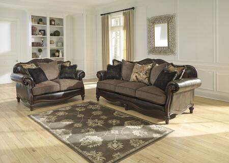 Milo Italia MI6819SLVINT Nathan Living Room Sets