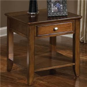 Standard Furniture 27682 Hialeah Court Series Traditional Rectangular 1 Drawers End Table