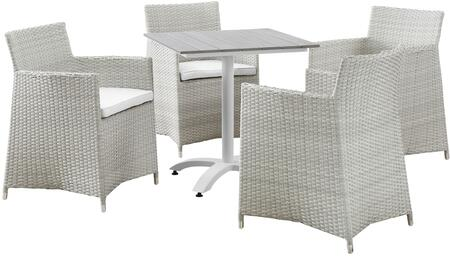 Modway Junction Collection EEI-1760- 5-Piece Outdoor Patio Dining Set with Dining Table and Four Armchairs in