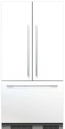 "Fisher Paykel RS36A72 36"" Star K, Energy Star Built-In French Door Refrigerator with 16.8 cu. ft. Capacity, 72"" Tall, ActiveSmart Foodcare, Adaptive Defrost, Fast Freeze and LED Lights, with X:"