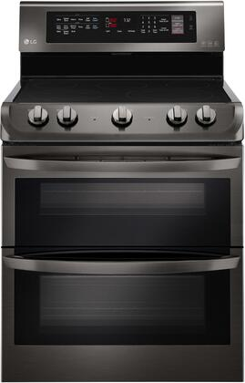 """LG LDE4413x 30"""" Freestanding Electric Double Oven with 7.3 cu. ft. Total Oven Capacity, 5 Elements, ProBake Convection, EasyClean, Self Clean, and Glass Touch Controls, in"""