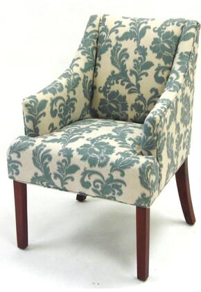 Armen Living LC2988CLGR Stationary Fabric Wood Frame Accent Chair