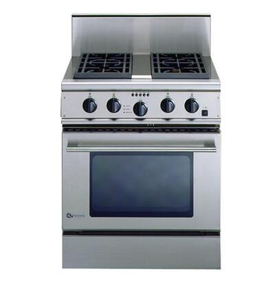 "GE Monogram ZDP30N4DSS 30""  Gas Freestanding Range with 4 cu. ft. Primary Oven Capacity, Broiler in Stainless Steel"