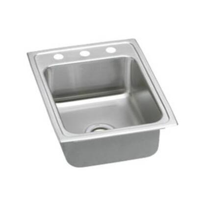 """Elkay LR17220 17"""" Top Mount 18-Gauge Single Bowl Stainless Steel Sink"""