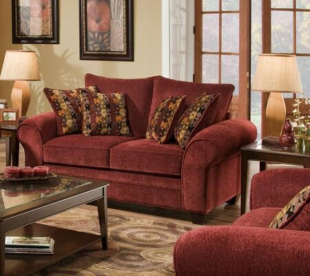 Chelsea Home Furniture 18370239 Clearlake Loveseat with 16 Gauge Border Wire, Kendu Onyx Toss Pillows, Kiln Dried Hardwood Frames and Hi-Density Foam Core Cushions in