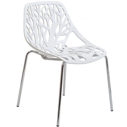 Modway EEI651WHI Stencil Series Dining Not Upholstered Metal Frame Accent Chair