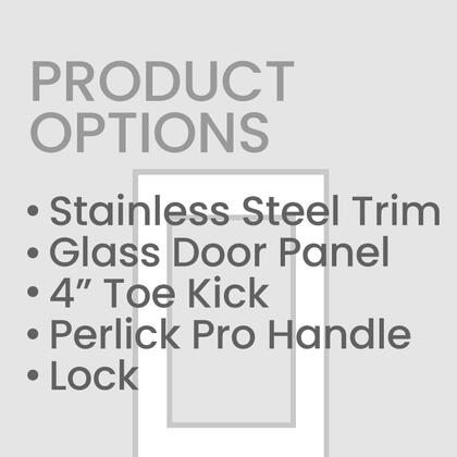 Perlick Door Panel, Handle and Toekick Only. Unit Sold Separately
