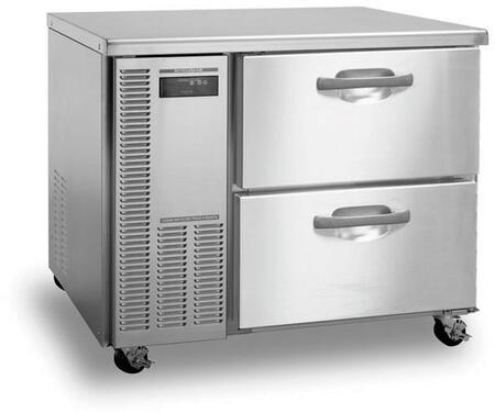 "Hoshizaki HWRXXA-D XX"" Professional Series Worktop Refrigerator with XX cu. ft. Capacity, Stainless Steel Interior and Exterior, EverCheck System, and Removable Refrigeration System: Stainless Steel"