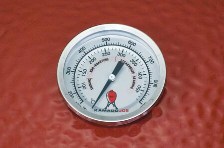 Thermometer on Red Grill