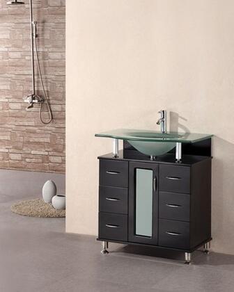 Design Element DEC015 Huntington Single Sink Vanity Set in Espresso